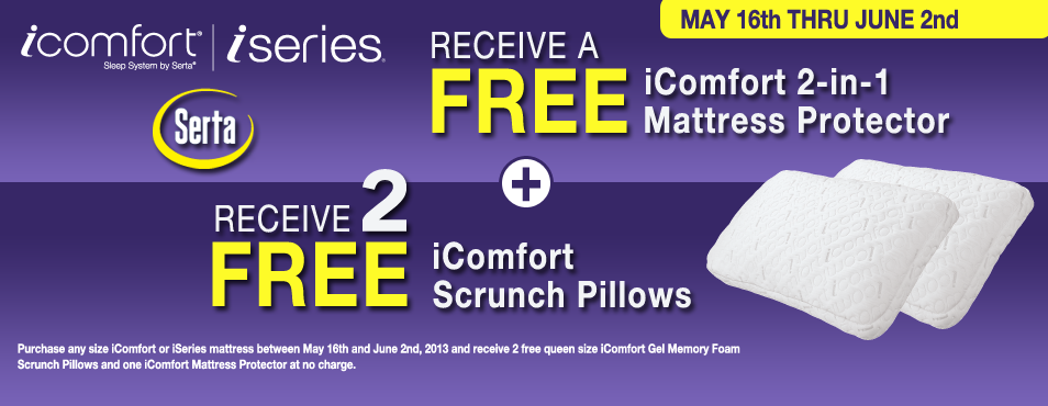 Serta Free Pillows & Mattress Protector